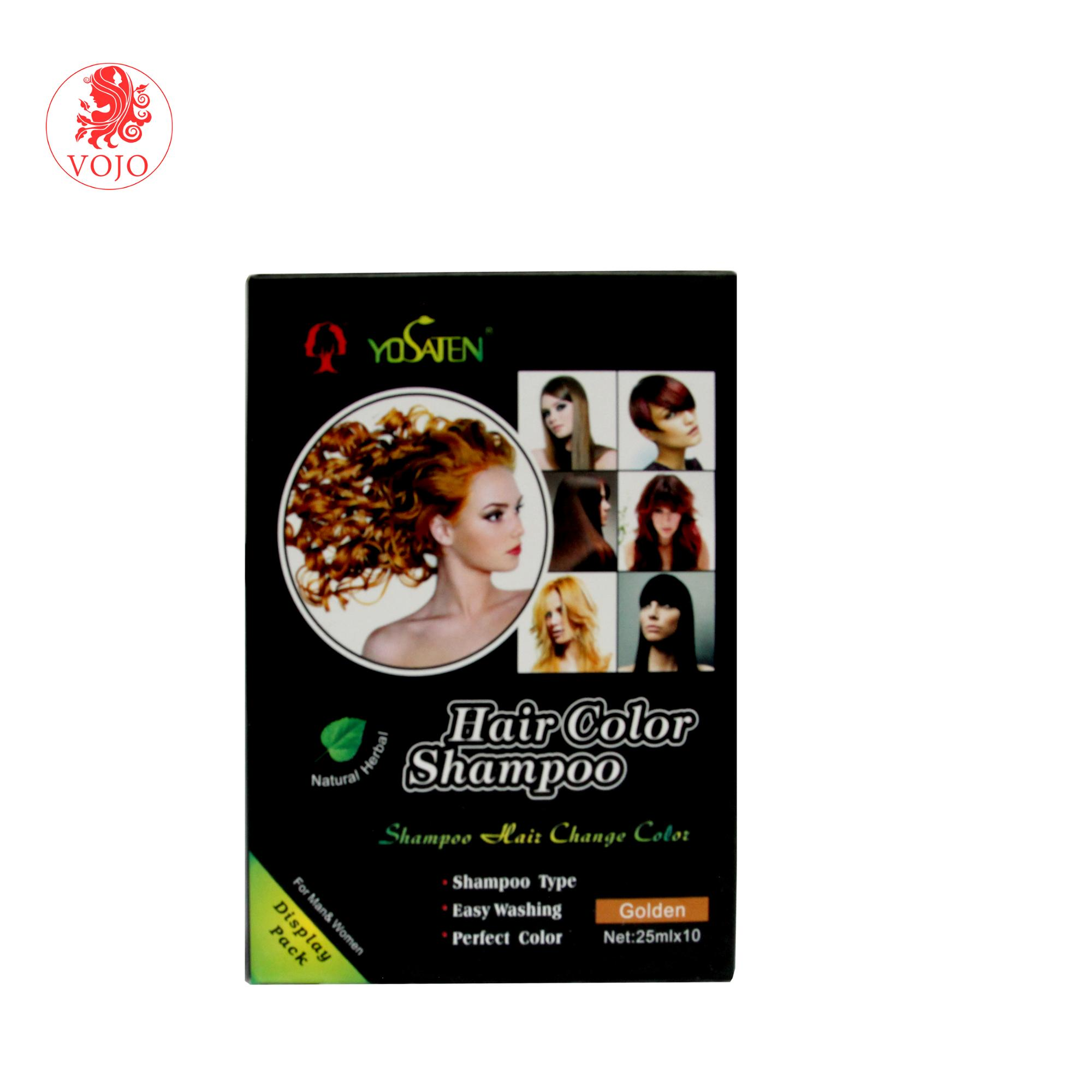 China wholesale there are 5 colours of crazy and organic  hair color dye shampoo which can fast and easy color hair