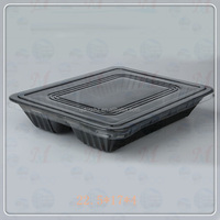 Japan style pla raw materials of fast food box ,plastic tray/container for Sushi