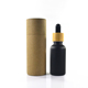 Hot 5ml 10ml 15ml 20ml 30ml 50ml 60ml 100ml bamboo cap essential oil bottle matte black red frosted glass bamboo dropper bottle