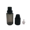 Transparent black PET 10ml TPD e liquid bottle with NEW design wide opening and childproof & tamper dropper