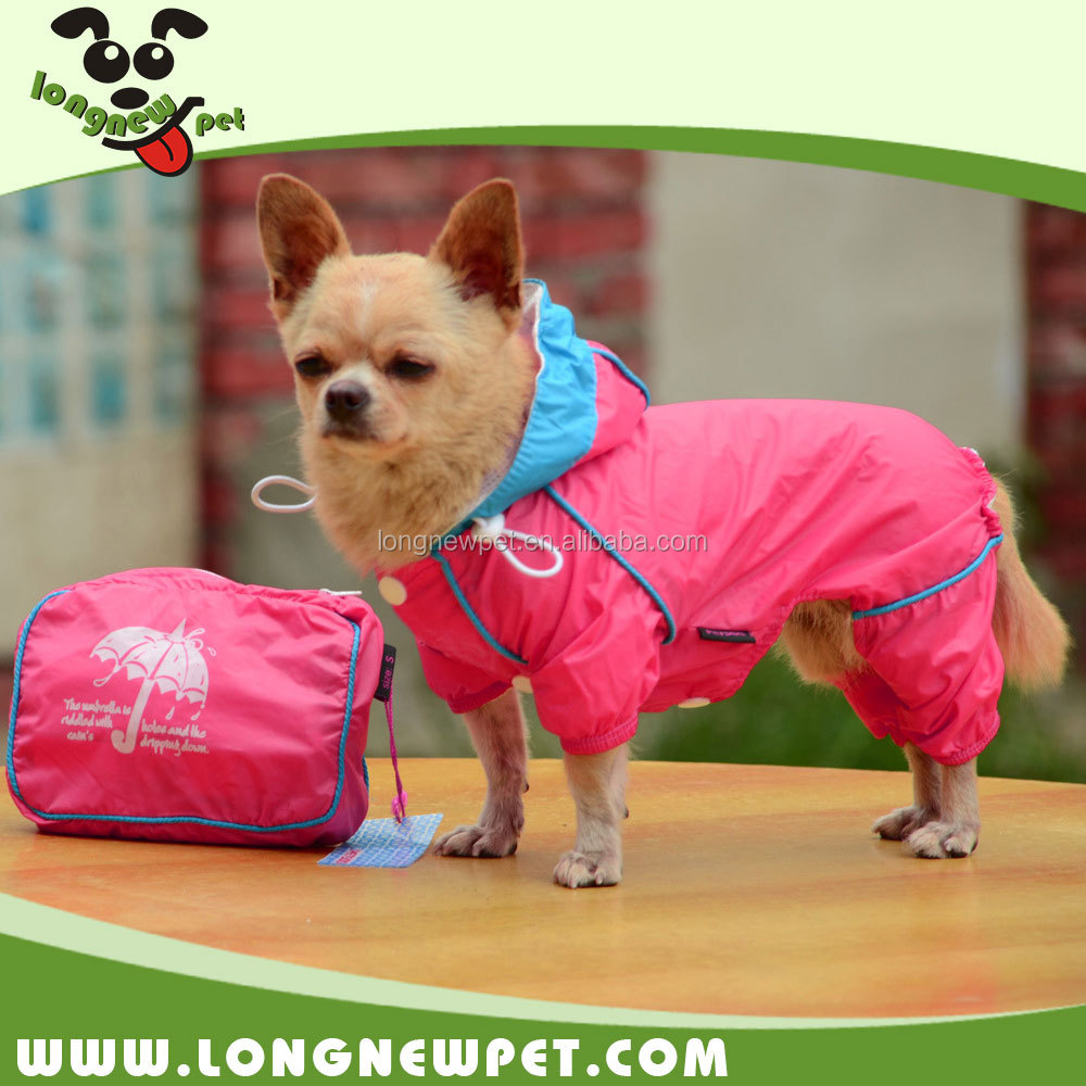 Hot Double-layer Dog Rain Coat Fashion Dog Clothes Waterproof Dog Jacket