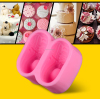 Hot sell fondant mold shoes,cute shoes silicone cake mold,shoes shaped fondant cake decorating tools