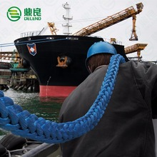 48mm 110m 12 Strand Braided UHMWPE Mooring Rope Marine Rope with protected eye splice for Ship