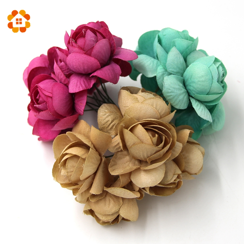 60pcs DIY Artificial Flower Home decorations for Wedding Artificial Flower Bouquet Spring Decoration Can Mix And Match Colors