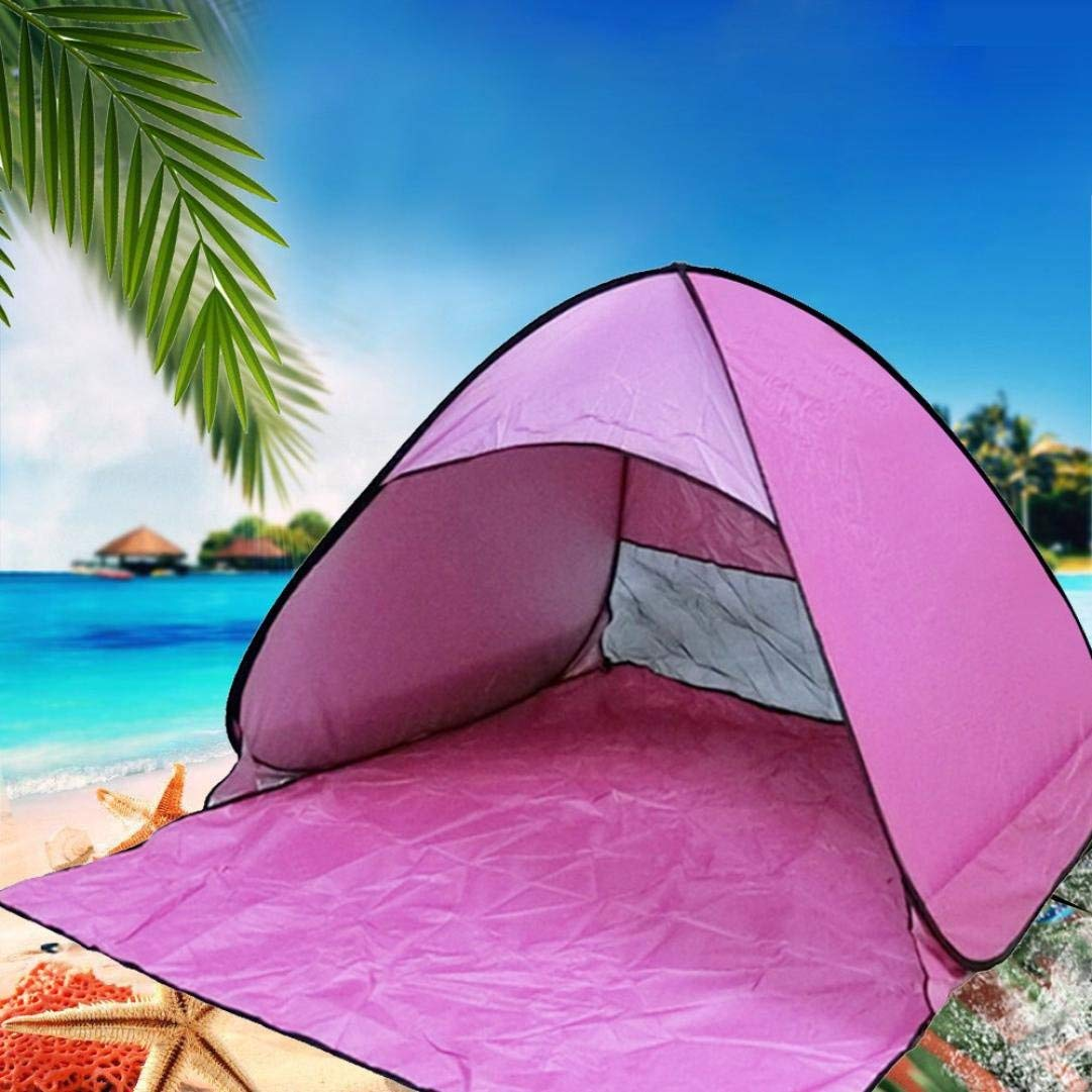 3d98a9e7779895 Get Quotations · Instant Pop Up Beach Tent 2-3 Person Beach Tent Sun  Shelter - Easy On