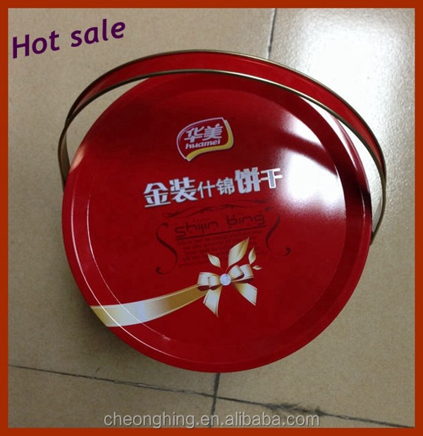Hot selling 5L engine oil tin can with plastic handle