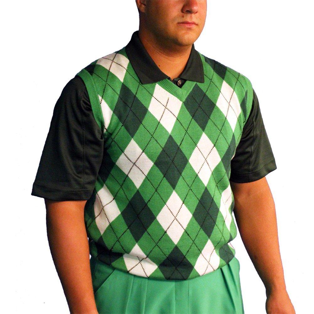 bc6a24ec529f06 Get Quotations · V-Neck Argyle Golf Sweater Vests - GolfKnickers: Mens - Pullover  Golf Vest