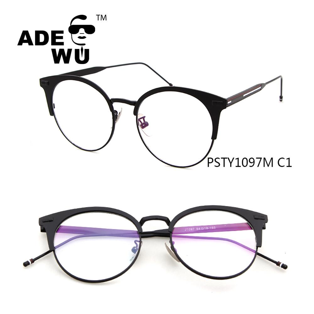 2017 Nuevo Modelo de gafas de Marco medio cuadro gafas redondas ...