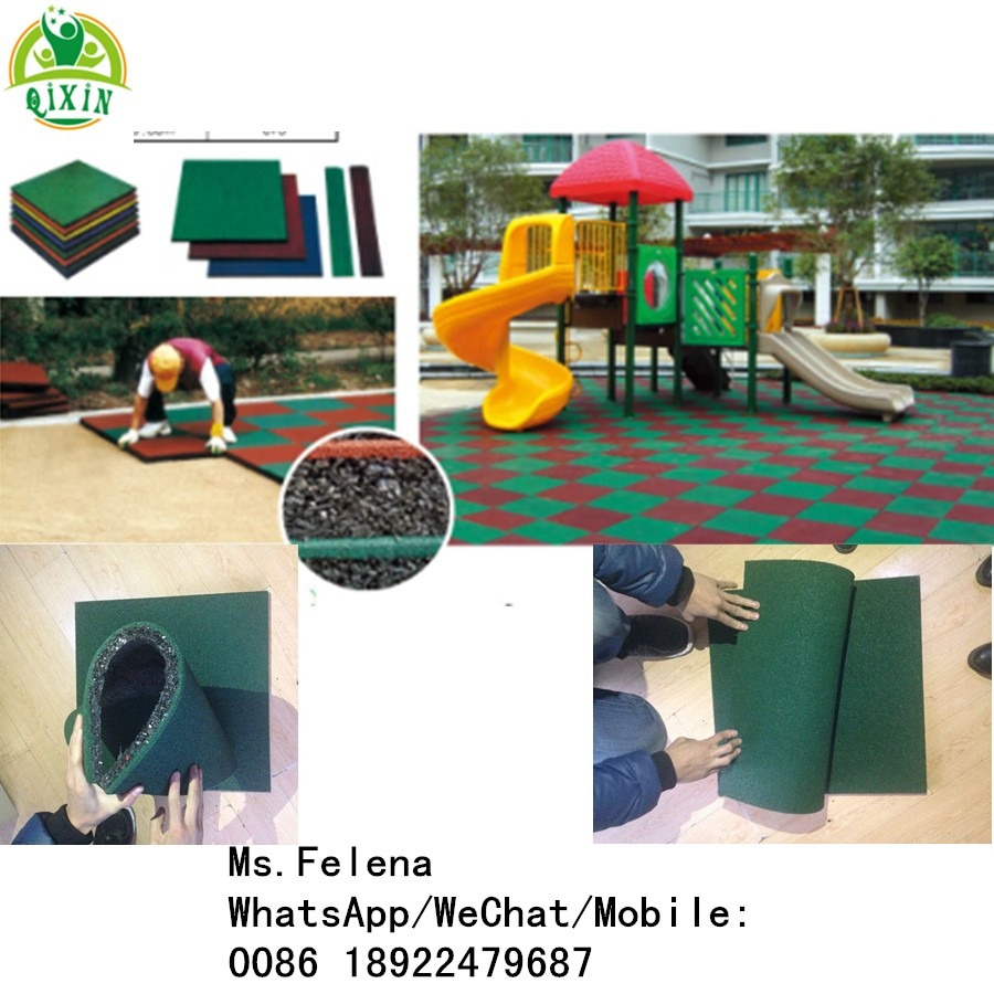 Guangzhou Factory Cheap Outdoor Safety Rubber Flooring For