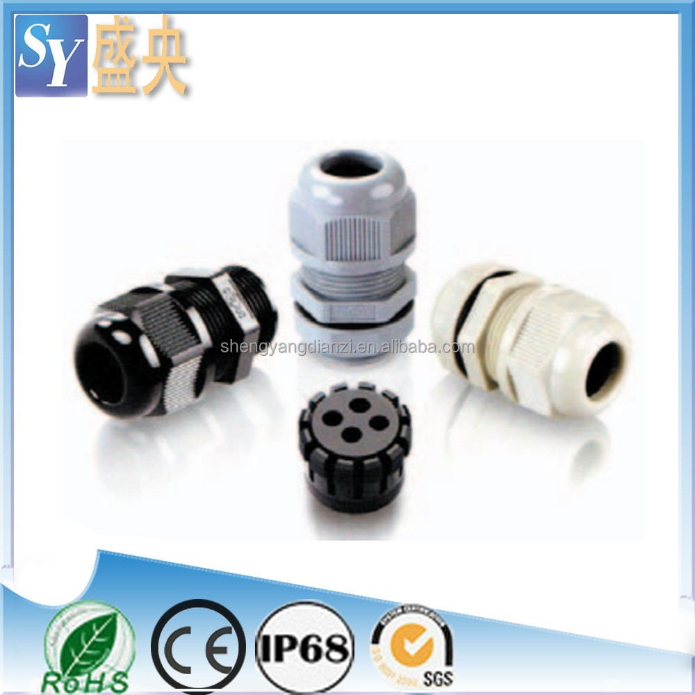Full Szie Free Samples New Nylon Plastic Waterproof Four-Holes Cable Gland