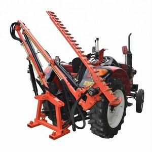 Tractor driven hydraulic hedge trimmer for cutting tree leaves