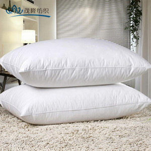 Wholesale Soft healthy 100% Cotton duck feather down pillow for hotel/home/hospital