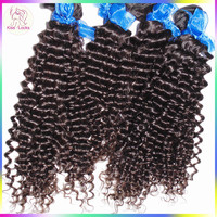 No Mixture Naturally Deep Curly Indian Remy Virgin Hair Extension 100% Original Temple Hair