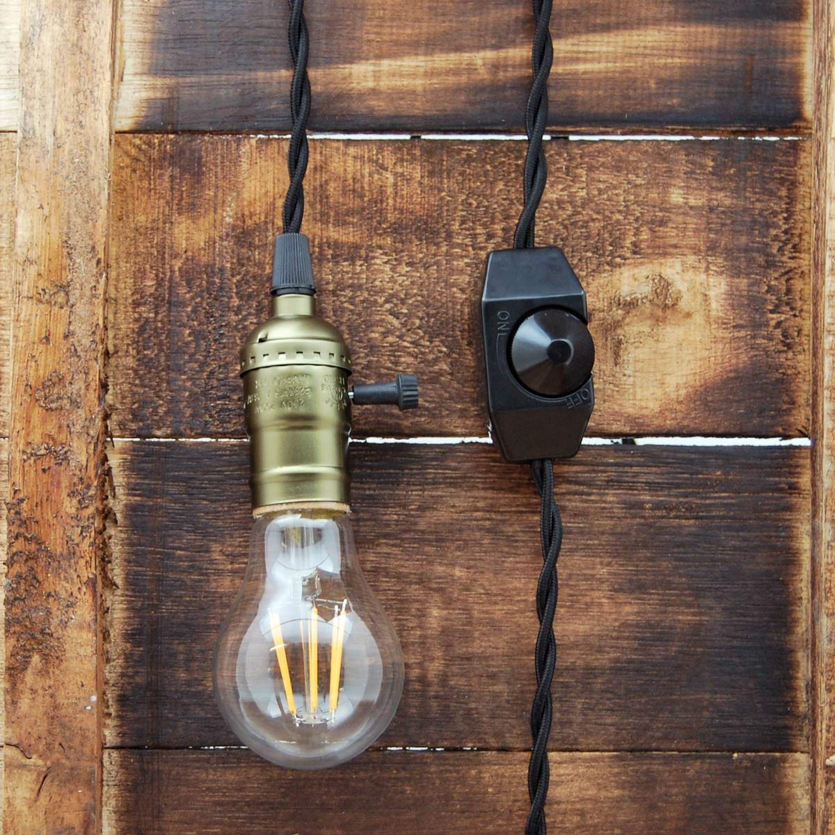 Get Quotations Whirled Planet Single Copper Socket Vintage Style Pendant Light Cord W Dimmer 11