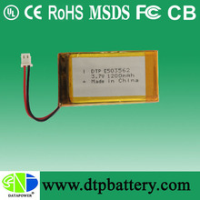 battery lipo 503562 3.7V 1200mAh rechargeable batteries battery alibaba best sellers
