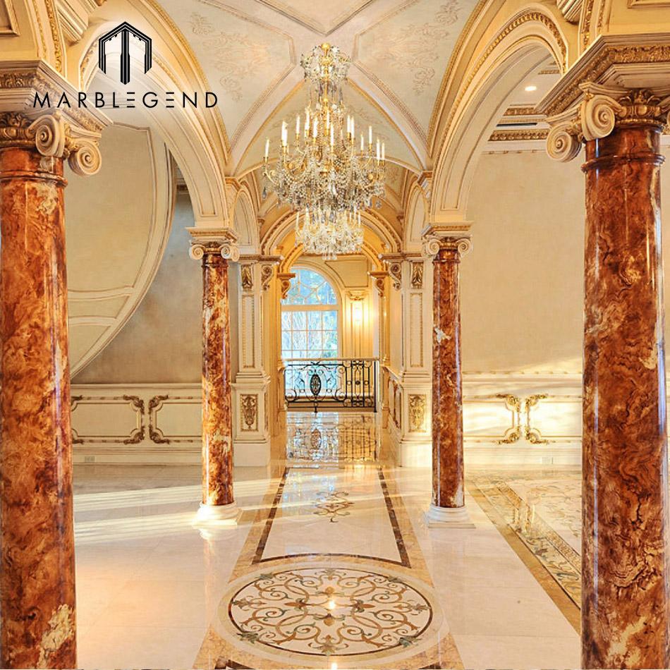 custom pictures waterjet cutting floor flower tiles design marble medallion tile lowes