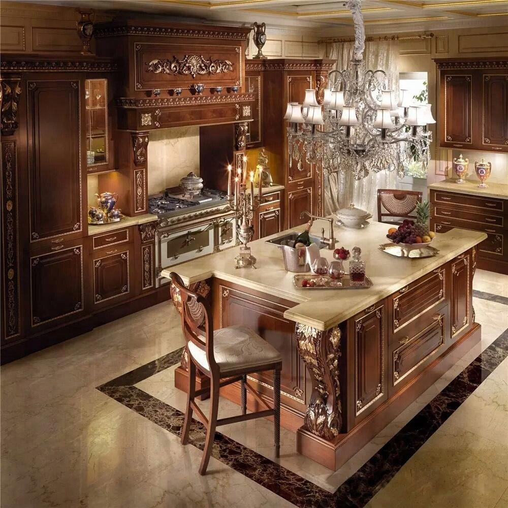 Legno massello di acero stile antico mobili da cucina di design