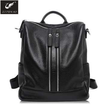 91f522b33136 High Quality Stylish Women leather backpack Women Cowhide Leather Backpack  Bag Made in China