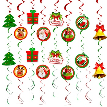 Christmas Theme Hanging Decorations, Foil Hanging Ceiling Decoration for Winter Wonderland Holiday Party Supplies