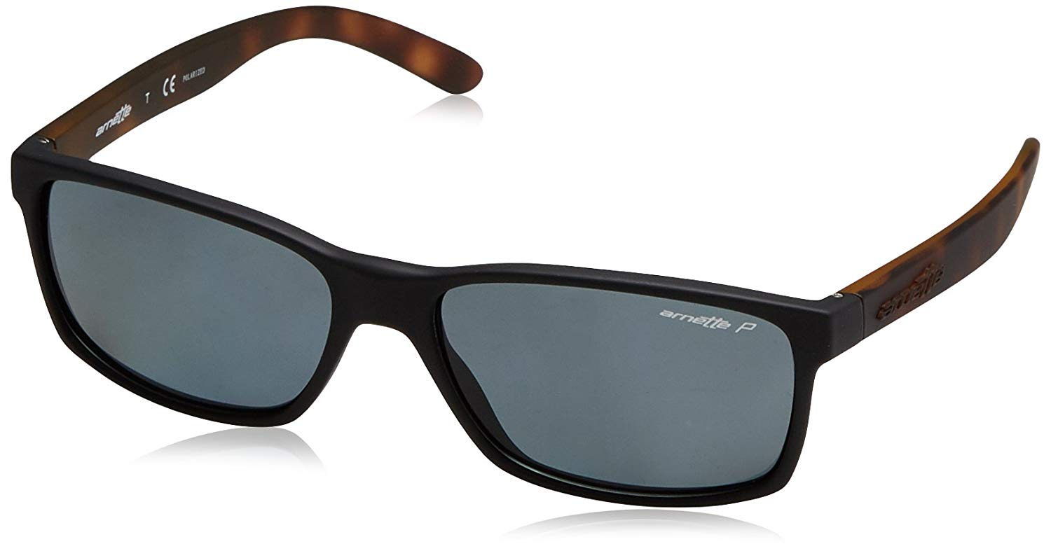 Get Quotations · Arnette Slickster Unisex Polarized Sunglasses - 2273 81  Fuzzy Black Fuzzy Havana Grey fc483f8a13