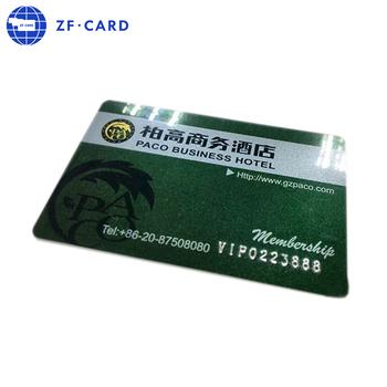 Standard Format Carte De Crdit En Plastique Miroir Cartes Visite