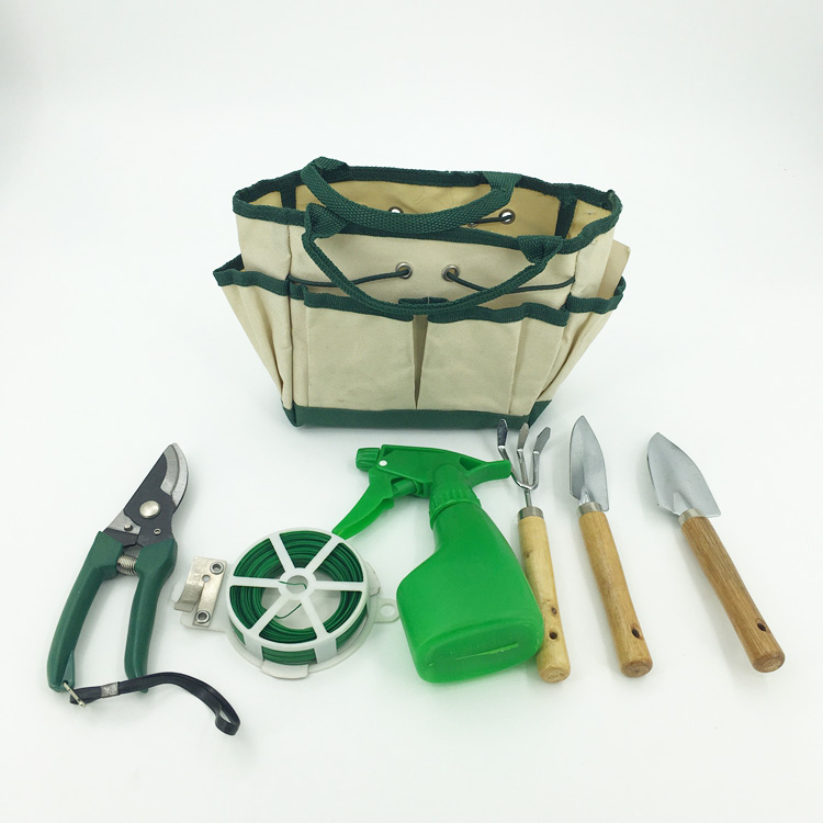 Outdoor Gardening Tool Kit Holder Oxford Bag 4 Side Pouches