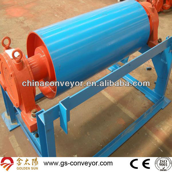 Conveyor belt block and tackle pulley