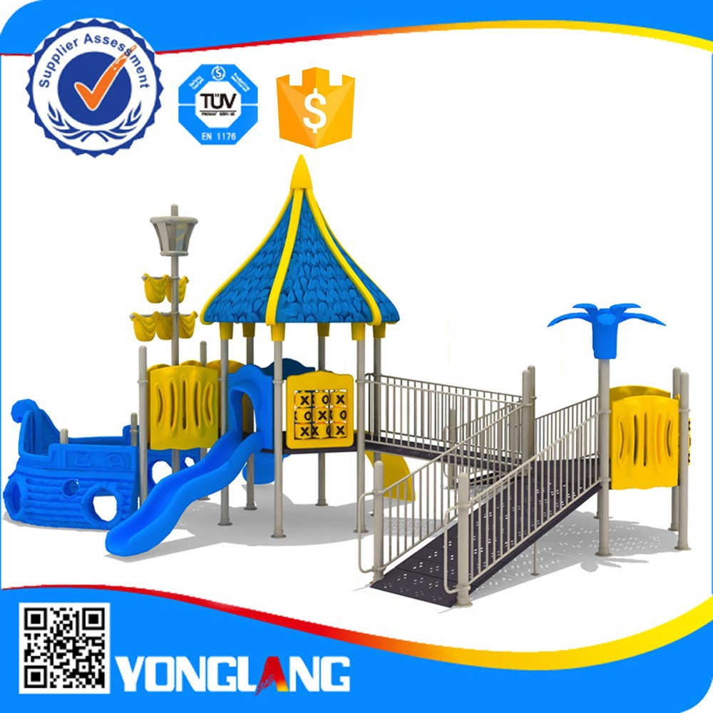 Kids plastic toys playground equipment for special need children china