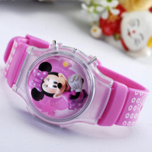 2015 new fashion boys girls silicone digital watches for kids mickey minnie cartoon watch for children christmas gift clock