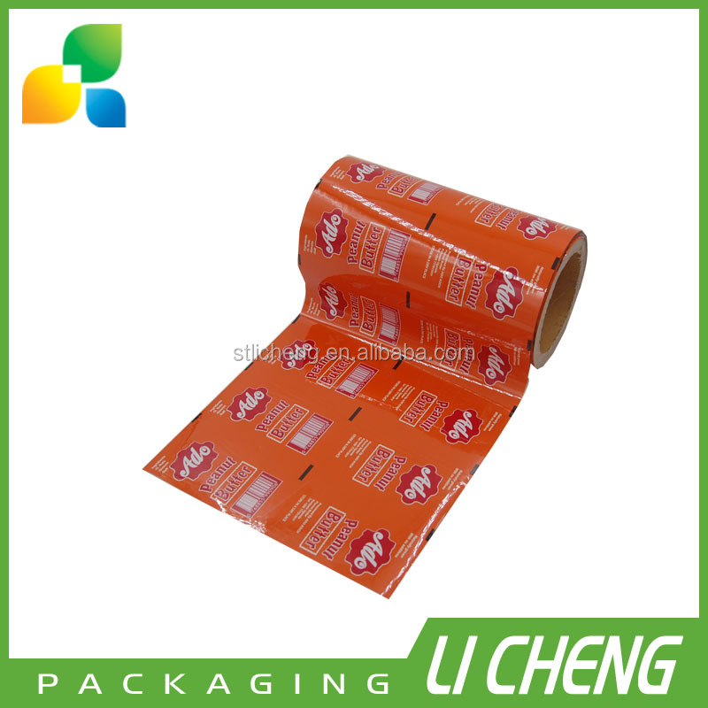 Custom printing automatic sachet packaging film peanut butter packaging