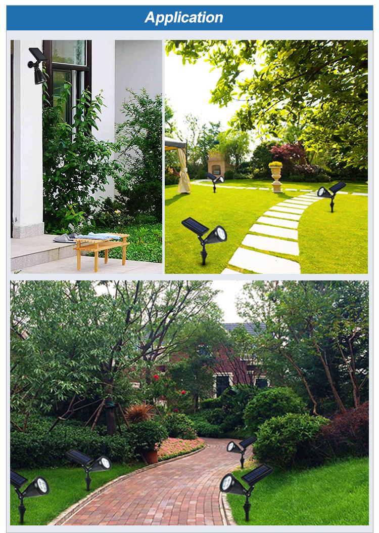 Garden outdoor border installation motion sensor solar led garden Light