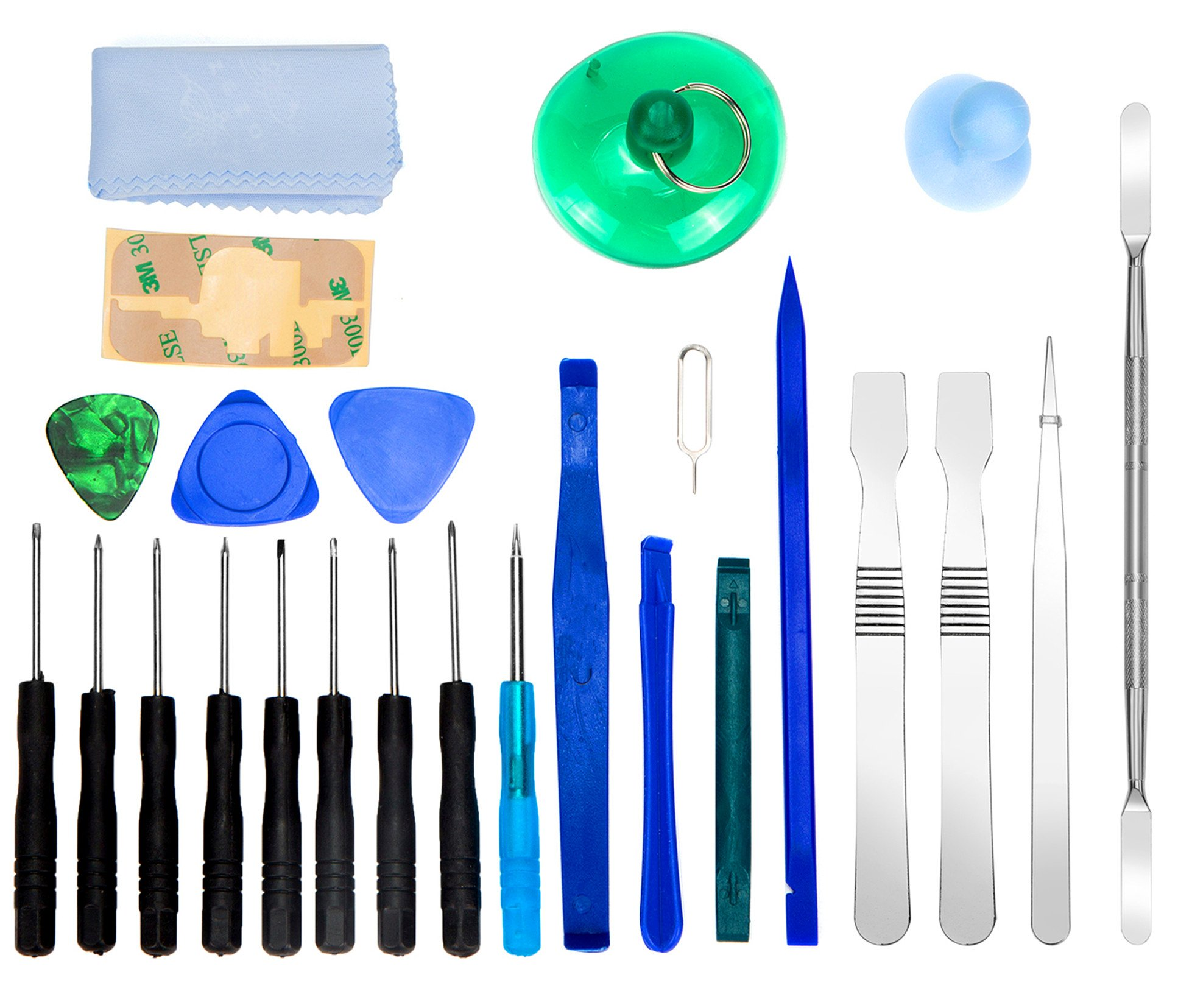 MOTINE 25 in 1 Universal Screen Removal Opening Repair Tool Kit Pry Tools Kit and Disassemble Screwdriver Set for Iphone/ Ipad/Ipod/Other Cell Phones and Devices