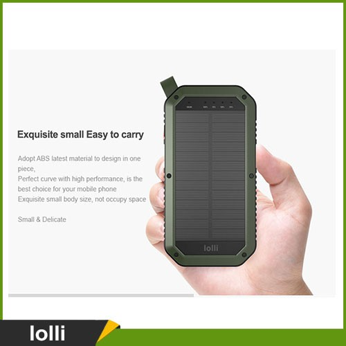 8000mah Camping light & Solar charger, 2 in 1 solar power bank