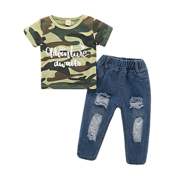 ed4405d99406b New Kids Clothing Baby Boy Clothes Summer Sets Camouflage Top Tshirt +  Denim Pant Trousers Jeans Boys Suits For Children - Buy New Kids Clothing  Baby ...