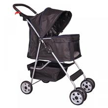 Hoge Kwaliteit 4 Wielen <span class=keywords><strong>Hond</strong></span> Kat Kinderwagen Travel Opvouwbare Huisdier <span class=keywords><strong>Wandelwagen</strong></span>