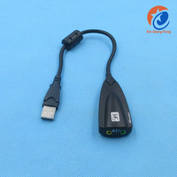 USB2.0 5hv2 USB virtual 7.1 Channel Sound Card Adapter with Line