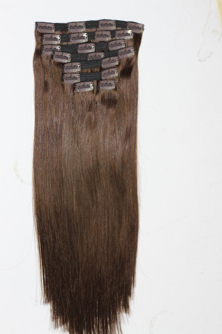 Clip in Hair Weft with Lace Band Triple Weft