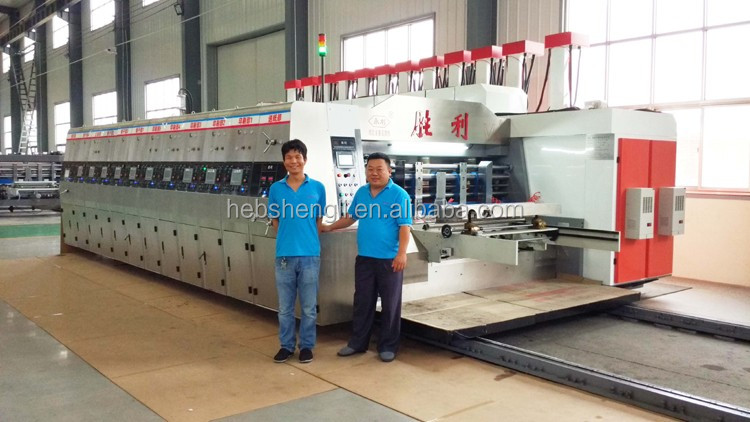 The Largest Chinese Manufacture Shengli high definition corrugated white carton 4 to 7 color printing machine