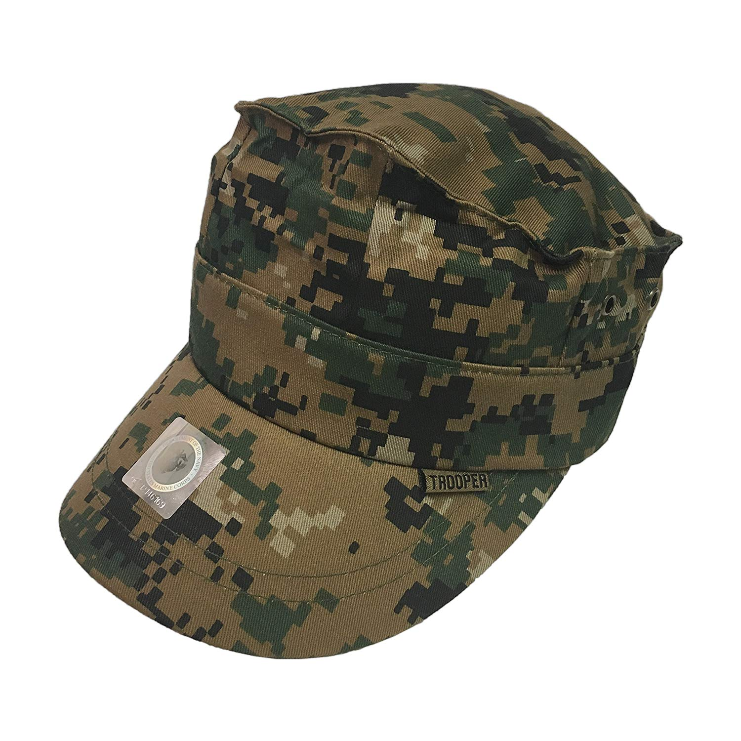 f5a8a466 Get Quotations · Trooper Clothing Brand Woodland Camo 8 Point Cover Youth  Cap - 154-OS