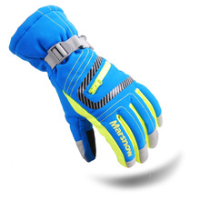 Dropshipping 2015 winter professional ski gloves girls boys waterproof warm gloves Christmas gift snow kids waterproof gloves
