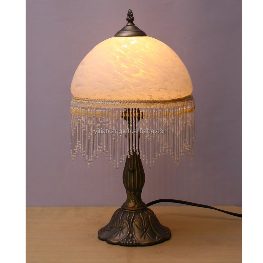 Glass bead lamp shade wholesale lamp shade suppliers alibaba mozeypictures Image collections