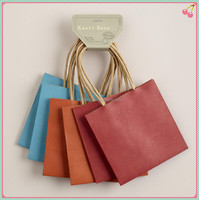 custom twisted handle craft paper gift bag for shopping