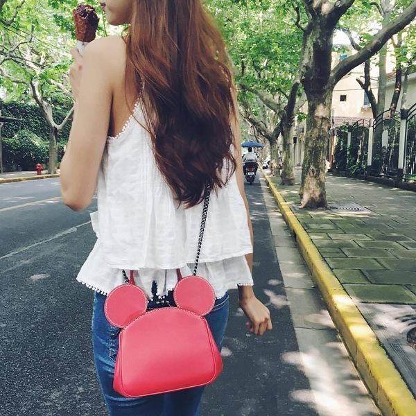 Classical Mickey mouse shape Designs Leather Shoulder Bag Women from Guangzhou