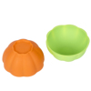 BSCI FDA LFGB Approved Flexible Measuring Cup Pudding Silicone Pumpkin Shape Mixing Bowl For Face Mask