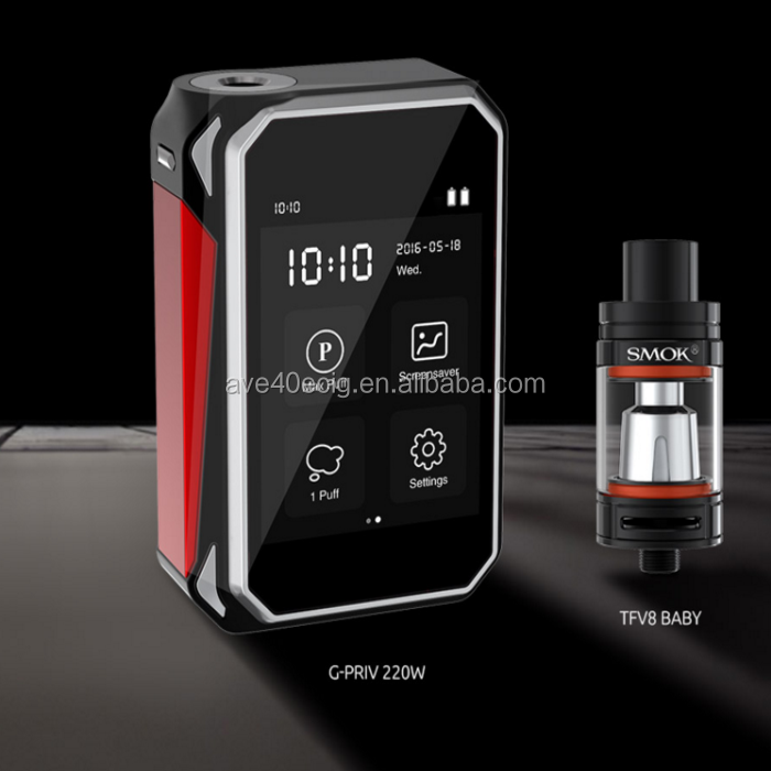 Smok Hot Selling Vaping in Saudi Arabia Smok G-PRIV Kit with G-PRIV 220W Mod Newest Touch Screen G-Priv 220w Starter kit