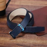 Simple Buckle Design Soft Leather Belts for Men Vintage