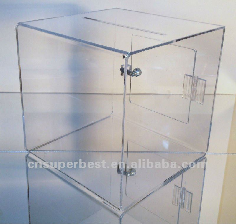 Acrylic Door Amp Large Clear Acrylic Charity Donation Box