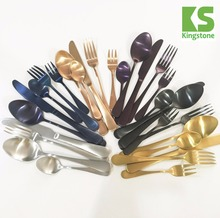 16pcs 20pcs 24pcs rose gold cutlery set titanium gold stainless steel cutlery