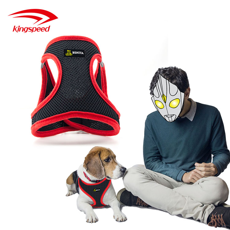 Travel Padded Adjustable Reflective Custom Large Body Car Safety Dog Vest