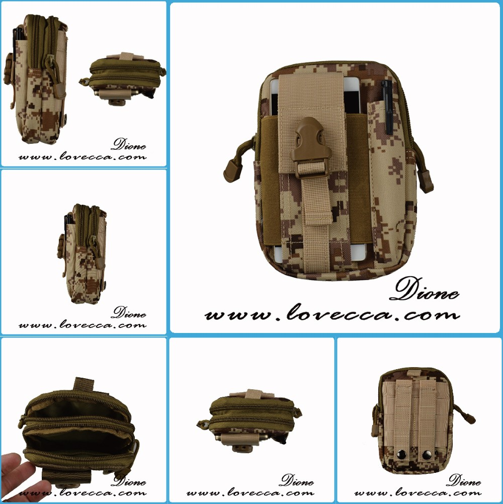 Universal Tactical Military Molle Hip Waist Belt Bag Outdoor/Camping Phone Case Pouch Pack Purse with zipper pocket